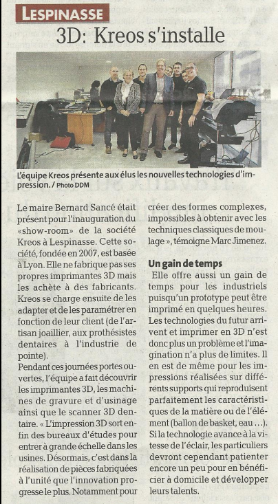 Inauguration du show-room KREOS à Toulouse