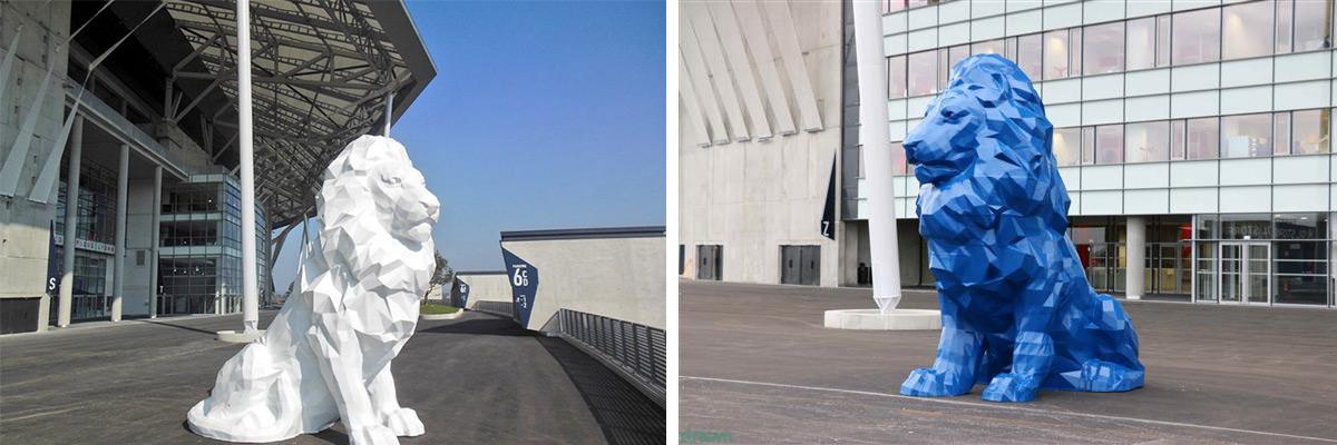 Lion imprimé en 3D pour le stade de l'olympique Lyonnais