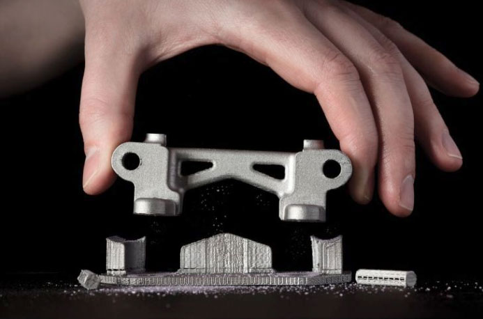 Pièce fabriquée par Bound metal deposition BMD